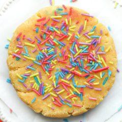 5 MINUTE Birthday Cake Keto Cookie Recipe