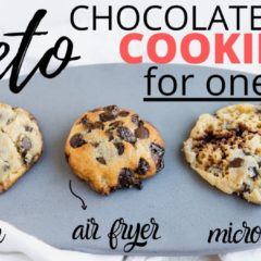 45 Second KETO CHOCOLATE CHIP COOKIE FOR ONE | Cooked 3 Ways – Air Fryer, Microwave, Oven