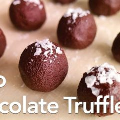 Chocolate Truffles   Low Carb Keto Dessert   ASMR Cooking